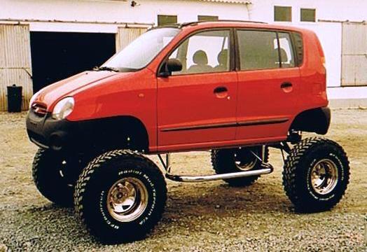 Hyundai accent Big Foot - rodas extra grandes by MRacing
